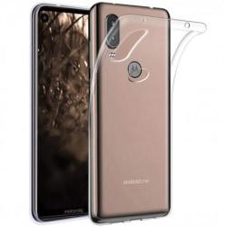 Motorola One Vision Stötdämpande Silikon Skal Simple® Transparent