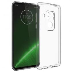 Motorola One Zoom Stötdämpande Mjukt Skal Simple® Transparent