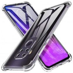 Motorola One Zoom Stötdämpande Silikon Skal Shockr® Transparent