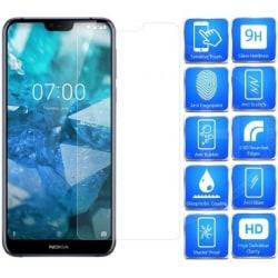 Nokia 7.1 Härdat glas 0.26mm 2.5D 9H Transparent
