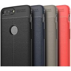 OnePlus 5 Stöttåligt & Stötdämpande Skal LeatherBack® Svart