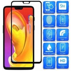 OnePlus 6 FullFrame® 0.26mm 2.5D 9H Härdat Glas Svart