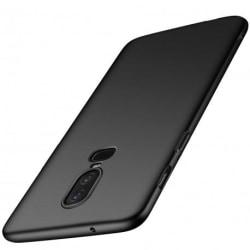OnePlus 6 Ultratunn Gummibelagd Mattsvart Skal Basic® V2 Svart