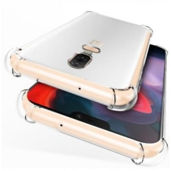 OnePlus 6T Stötdämpande Silikon Skal Shockr® Transparent