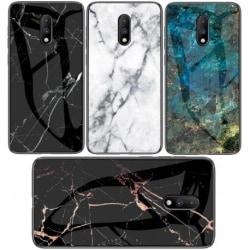 OnePlus 7 Marmorskal 9H Härdat Glas Baksida Glassback® V2 Transparent Variant 3