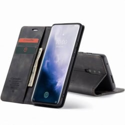 OnePlus 7 Pro Elegant Flipfodral CaseMe® 3-FACK Svart