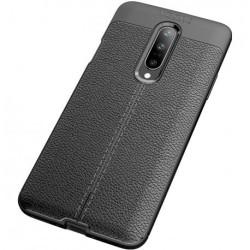 OnePlus 7 Pro Stöttåligt & Stötdämpande Skal LeatherBack® Svart
