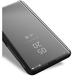 Samsung A20e Smart Flipfodral Clear View Standing V2 Rocket® Black