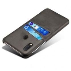 Samsung A20e Stötdämpande Korthållare Retro® V2 Svart