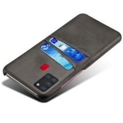 Samsung A21s Stötdämpande Korthållare Retro® V2 Svart