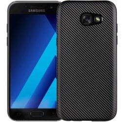 Samsung A3 2017 Stöttåligt Skal FullCarbon® V2 Svart