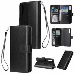 Samsung A40 Praktisk Plånboksfodral med 10-Fack Array® Black