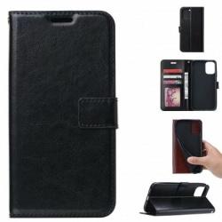 Samsung A41 Plånboksfodral PU-Läder 4-FACK Svart Svart