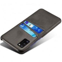 Samsung A41 Stötdämpande Korthållare Retro® V2 Svart