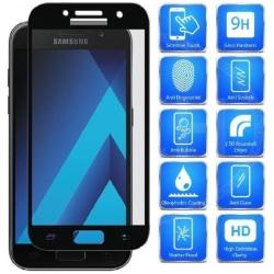 Samsung A5 2017 FullFrame® 0.26mm 2.5D 9H Härdat Glas Svart