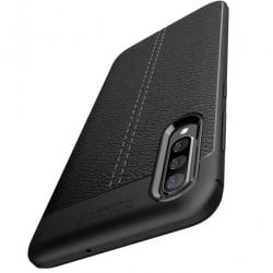 Samsung A50 Stöttåligt & Stötdämpande Skal LeatherBack® Svart