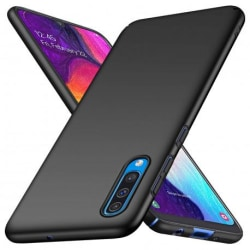 Samsung A50 Ultratunn Gummibelagd Mattsvart Skal Basic® V2 Svart