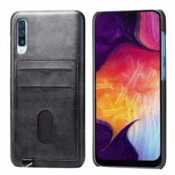 Samsung A50 Ultratunn Stötdämpande Korthållare 2st Kort Agile® Black