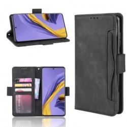 Samsung A51 Plånboksfodral PU-Läder 6-FACK Winston® V3 Svart