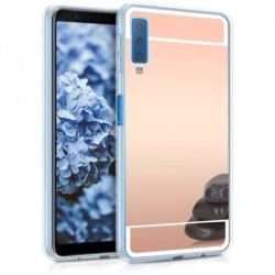 Samsung A7 2018 Elegant Stötdämpande Spegelskal TPU Svart