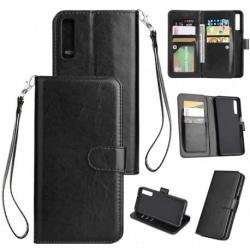 Samsung A7 2018 Praktisk Plånboksfodral med 10-Fack Array® Svart