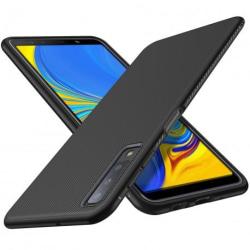 Samsung A7 2018 Stöttåligt Skal FullCarbon® V3 Svart