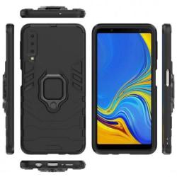Samsung A7 2018 Stöttåligt Skal med Ringhållare ThinArmor® Svart