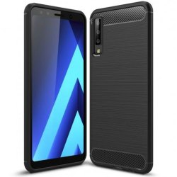 Samsung A7 2018 Stöttåligt Stötdämpande Skal SlimCarbon® Svart