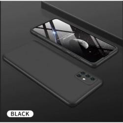 Samsung A71 360° 3in1 FullCover Skal inkl. Härdat Glas Svart