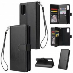 Samsung A71 Praktisk Plånboksfodral med 10-Fack Array® Svart