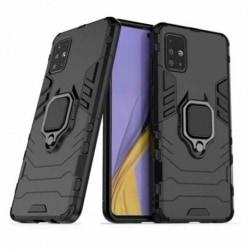 Samsung A71 Stöttåligt Skal med Ringhållare ThinArmor® Svart