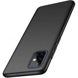 Samsung A71 Ultratunn Gummibelagd Mattsvart Skal Basic® V2 Black