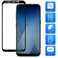 Samsung A8 2018 FullFrame® 0.26mm 2.5D 9H Härdat Glas Svart