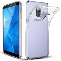 Samsung A8 2018 Stötdämpande Silikon Skal Simple® Transparent