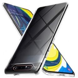 Samsung A80 Stötdämpande Silikon Skal Simple® Transparent