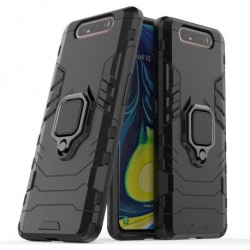 Samsung A80 Stöttåligt Skal med Ringhållare ThinArmor® Svart