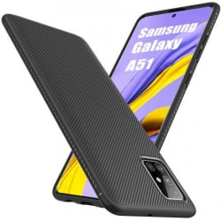 Samsung Galaxy A41 Stilrent Stöttåligt Skal FullCarbon® V3 Svart