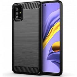 Samsung Galaxy A51 Stöttåligt Skal SlimCarbon® Black
