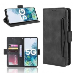 Samsung Galaxy S20 Plånboksfodral PU-Läder 6-FACK Winston® V3 Svart
