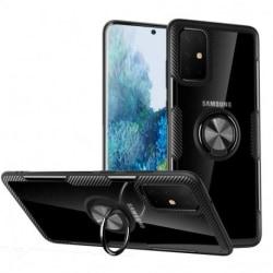 Samsung Galaxy S20 Praktisk Stöttåligt Skal med Ringhållare V4 Svart