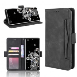 Samsung Galaxy S20 Ultra Plånboksfodral PU-Läder 6-FACK Winston® Svart