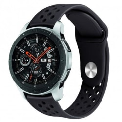 Samsung Galaxy Watch 46mm LTE Stilren Sportarmband Runnr® Svart