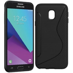 Samsung J5 2017 Ultratunn Stötdämpande Skal S-Line® Svart