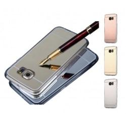 Samsung J5 Elegant Stötdämpande Spegelskal TPU Silver