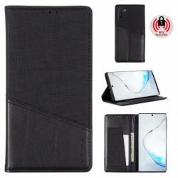Samsung Note 10 Elegant Fodral i PU-Läder med RFID Block Svart