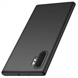 Samsung Note 10 Plus Ultratunn Gummibelagd Mattsvart Skal Basic® Svart