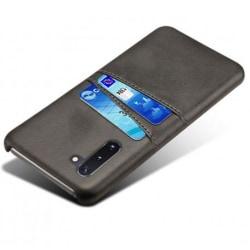 Samsung Note 10 Stötdämpande Korthållare Retro® V2 Svart