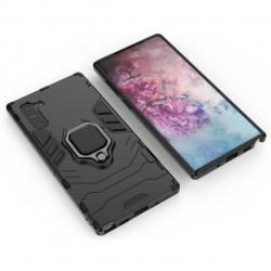 Samsung Note 10 Stöttåligt Skal med Ringhållare ThinArmor® Svart