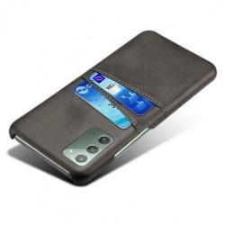 Samsung Note 20 Stötdämpande Korthållare Retro® V2 Svart