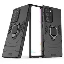 Samsung Note 20 Ultra Stöttåligt Skal med Ringhållare ThinArmor® Black